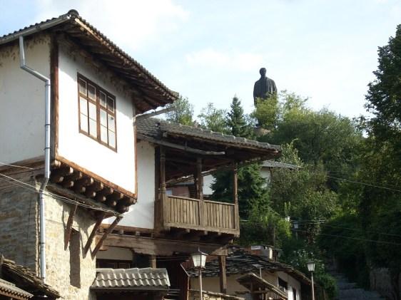 Vassil Levski's statue dominates the town's 'skyline' :)