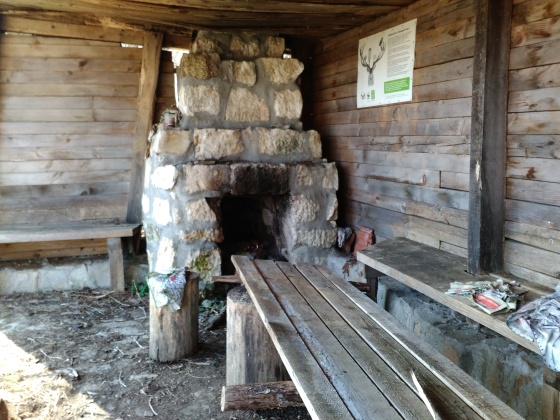 The shelter, which even has a fireplace